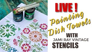 LIVE-Creative Relief - DIY Painted Dish Towels W/JRV Stencils
