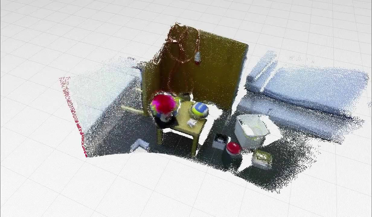 Free fly mapping test with Kinect in the ETHZ RGB-D dataset using the 6 DoF localization system