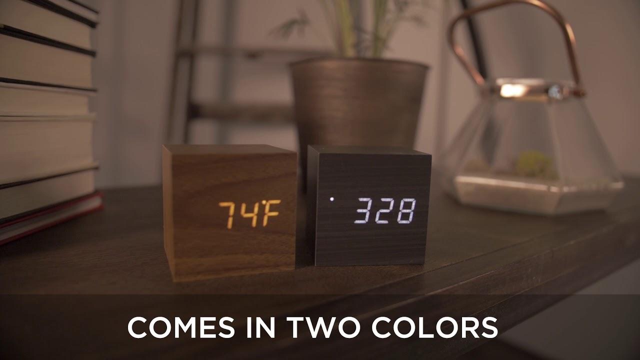 Block Clock // Walnut with White LED video thumbnail
