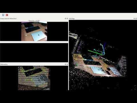 Testing RTAB MAP on ROS with Intel Realsense D435 - смотреть