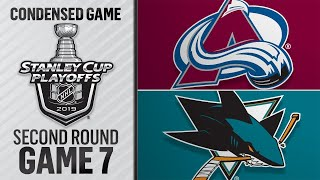 05/08/19 Second Round, Gm7: Avalanche @ Sharks