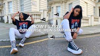 HOW I STYLE CONVERSE RUN STAR HIKES   CASUAL LOOKBOOK