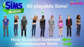 How to switch Sims in The Sims Mobile [Up to 60 playable Sims!]