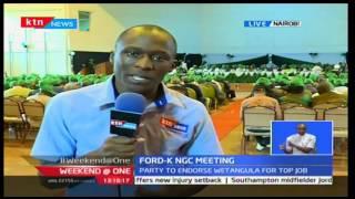 KTN Weekend at One: Ford Kenya NGIC meeting to Endorse CORD's Moses Wetangula;s presidential bid