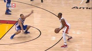 Dwyane Wade Shakes Justin Anderson   76ers vs Heat - Game 3   April 19, 2018   2017-18 NBA Season