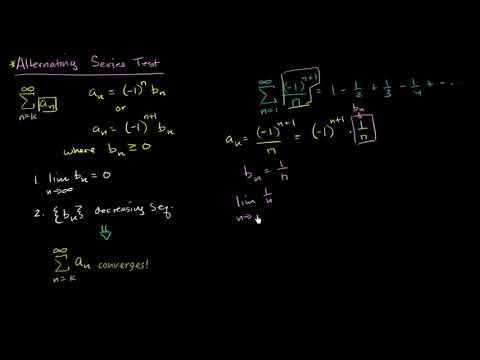 Alternating series test