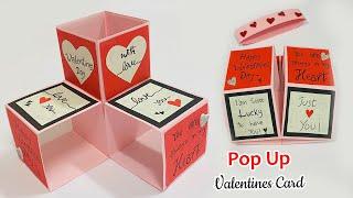 Valentines Day Cards | Valentine Cards Handmade Easy | Greeting Cards Latest Design Handmade | #387