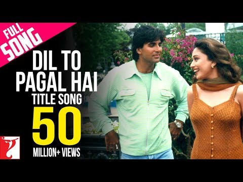 Dil To Pagal Hai - Full Title Song | Shah Rukh Khan | Madhuri | Karisma | Akshay | Lata | Udit Mp3