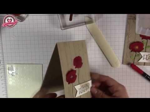 Tutorial: Blumen auf Pergamentpapier stempeln - Material von Stampin' Up!
