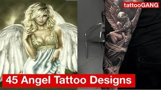 45 Catchy Angel Tattoo Designs Collection