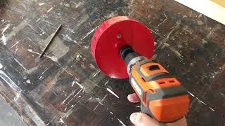 How To Cut A Cornhole Board Hole With A Hole Saw