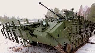 На испытательном полигоне - БМП-2М