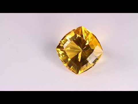 Square Cushion Citrine 13.00 Carat