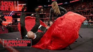 Ronda Rousey puts Triple H through a table at her contract signing: WWE Elimination Chamber 2018