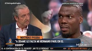 Mathias Pogba habló en 'El Chiringuito' sobre las posibilidades que existen de que su hermano Paul termine en el Real Madrid.