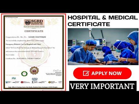 Free Online Medical Hospital Certificate | Online Medical Course