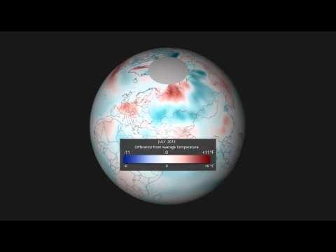 July 2013 Temperature Anomalies, EarthNow