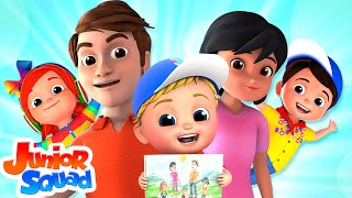 The Finger Family Song | Nursery Rhymes For Children By Junior Squad