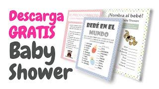 Juegos Para Baby Shower Mixto Para Imprimir Video Smotrite