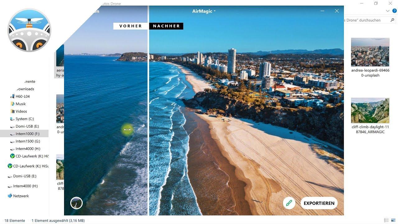 AirMagic – Drohnenfotos automatisch optimieren mit KI – Review, Erfahrungsbericht, Test