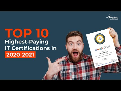 Top 10 IT Certifications For 2020 - 2021 | High Paying IT ... - YouTube
