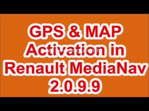 #Activation of #GPS & #MAP in #Renault #MediaNav #2.0.9.9