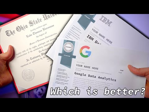 Certificates vs Degree for Data Analysts (ft. Google Data Analytics Professional Certificate)