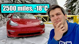 How Miserable Is A Winter Tesla Road Trip? -18°C & Broken Superchargers