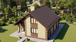 Проект дома 144-C, Площадь дома: 144 м2, Размер дома:  11,9x9,9 м