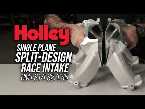 Holley Split-Design Single Plane Intake Manifold - GM LS1/LS2/LS6