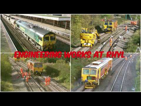 Freightliner Class 66s and tamper at Rhyl engineering works …