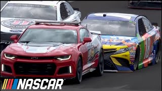Kyle Busch Gives Dale Jr. A Bump In Pace Car