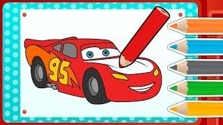 Cómo Dibujar y Colorear a RAYO MCQUEEN de Cars 3 🎨 Juegos divertidos para aprender