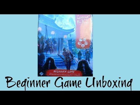 Unboxing the Legend of the Five Rings Beginner Game from Fantasy Flight Games