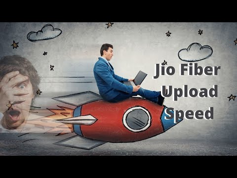 What is  the upload internet speed provided by Jio Fiber?