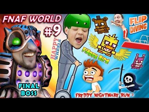 Download Fnaf World 9 The End Boss Happy Wheels Fnaffy Bird