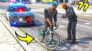 Can You Get Pulled Over For Speeding On A Bicycle?! (GTA 5 Mods - Evade Gameplay)