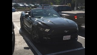 2016 Ford Mustang EcoBoost Convertible Startup and Review