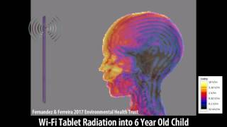 Wi-Fi From A Tablet: Scientific Imaging of Microwave Exposure
