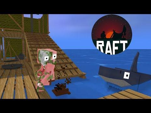 Monster School : RAFT CHALLENGE - Minecraft Animation