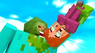 Zombie Vs Villager Life 1 4   Craftronix Minecraft Animation
