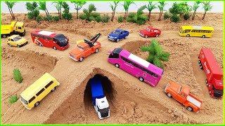 Excavator, Trucks, Tractors, Cars, Bus, Video for kids