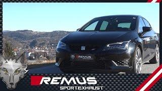 Video: Remus Komplettanlage ab Kat mit EG-Zulassung für Seat Leon 5F Cupra