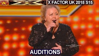 "Jacqueline Faye 53 Farm Girl  ""You're My World"" STANDING OVATION AUDITIONS week 1 X Factor UK 2018"