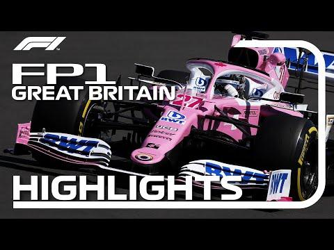 F1 2020 第4戦イギリスGP FP1ハイライト動画