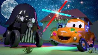 Autogaráž pro děti - Z Bena je Darth Vader - Tomova Autolakovna ve Městě Aut