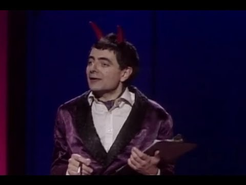 Rowan Atkinson's The Devil welcomes you to Hell