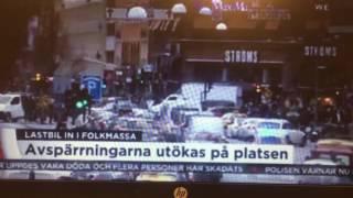 В Стокгольме грузовик врезался в людей