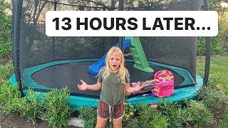 EVERLEIGH SPENDS 24 HOURS ON BACKYARD IN GROUND TRAMPOLINE!!!