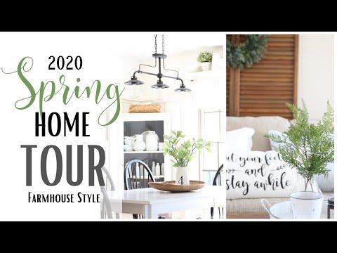 Spring Home Tour 2020 ~ Farmhouse Style Home Tour ~ Spring Home Decor ~ Spring Farmhouse Tour